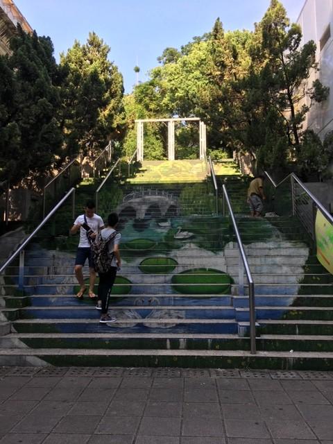 香港 九龍公園の階段